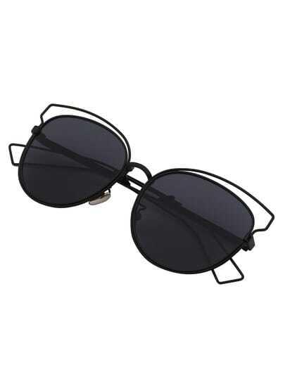 Lunettes de soleil yeux chat -noir