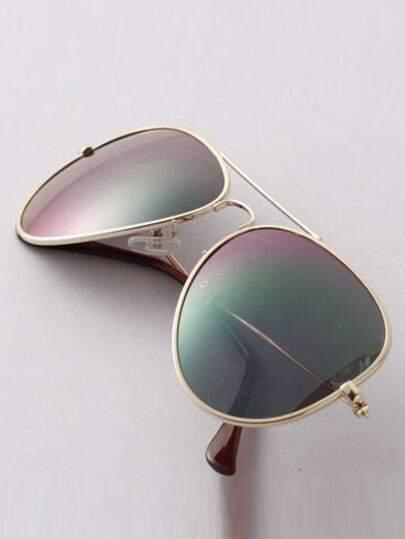 Purple Lenses Top Bar Sunglasses