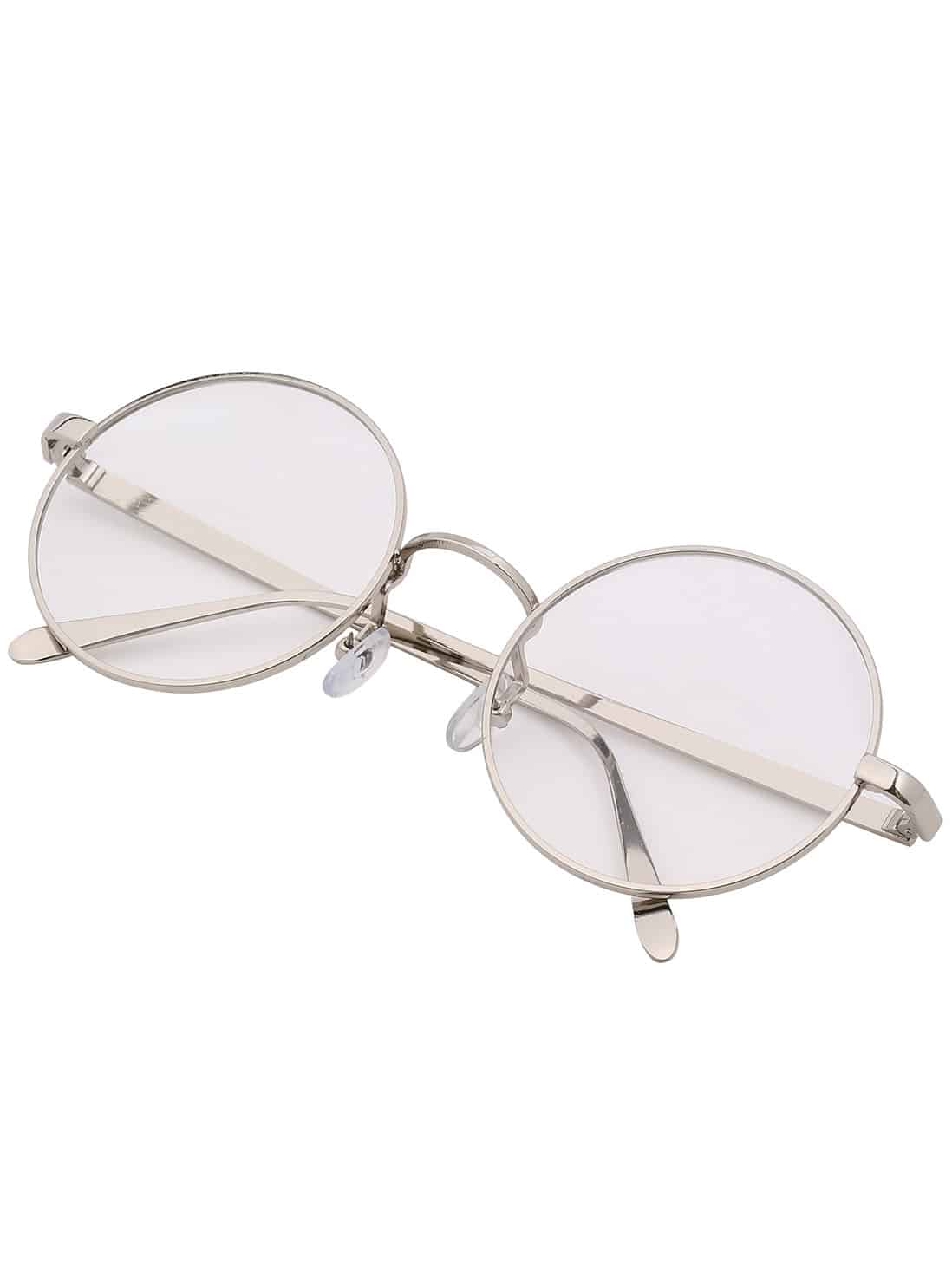 c872c0b19ca1 Silver Frame Retro Round Sunglasses · Silver Lenses ...