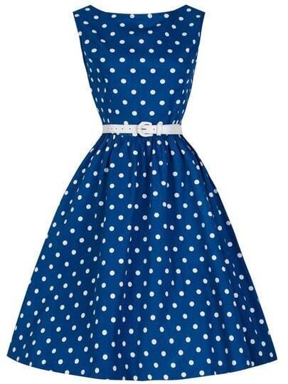Polka Dot Vintage Swing Dress