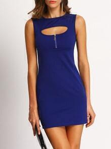 Royal Blue Cut Out Bodycon Dress