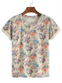 Florals Cuffed T-shirt