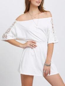 Off The Shoulder Lace Crochet Dress