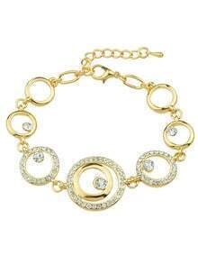 Geometric Rhinestone Chain Bracelets