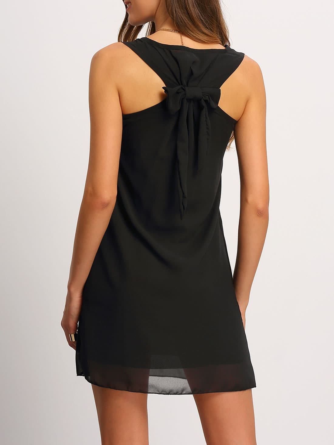 Купить Chiffon Bow Back Tank Dress