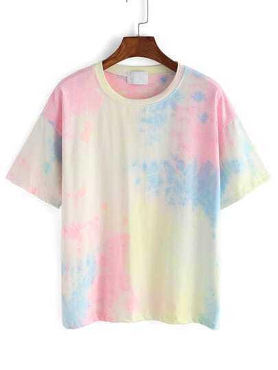 Tie-dye Round Neck T-Shirt