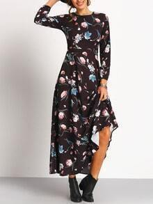Florals Chiffon Maxi Dress