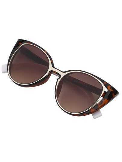 Gafas de sol ojo de gato marco leopardo