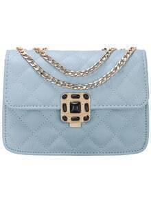 Blue Diamondback PU Chain Bag