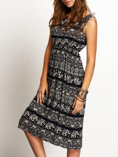 Paisley Print Tank Dress