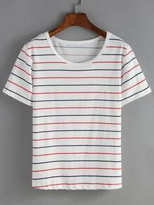 Striped White T-shirt