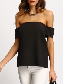 Off The Shoulder Tunic Top SHEIN