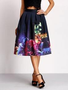 Florals Flare Skirt