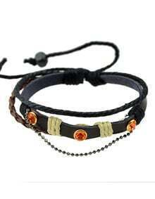Braided Pu Leather Bracelet