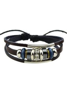 Модный кожаный браслет