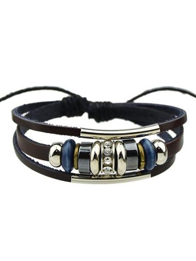 Pu Leather Adjustable Bracelet