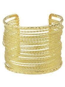 Gold Plated Cuff Wide Bracelet