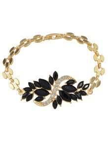 Black Rhinestone Women Bracelet