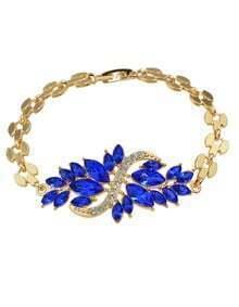 Blue Rhinestone Women Bracelet