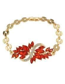 Red Rhinestone Women Bracelet