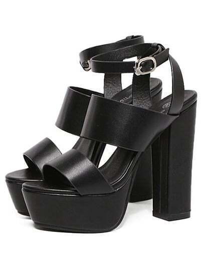 Thick Straps Chunky Platform Sandals