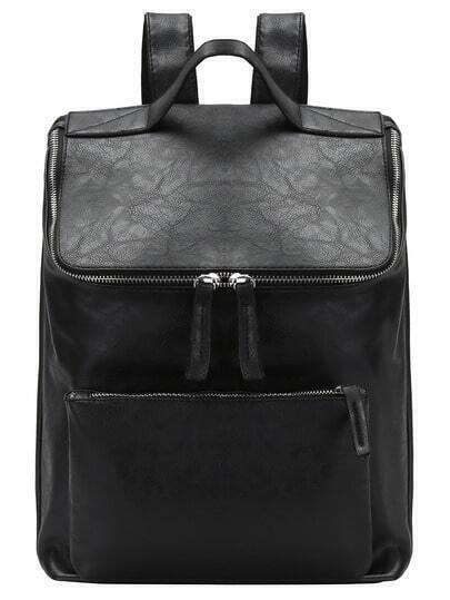Zippered Top And Front Pocket Backpack