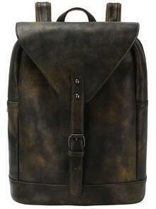 Buckled Flap Ditressed Backpack