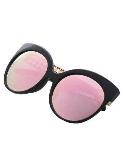 Rose Golden Lenses Cutout Arms Sunglasses