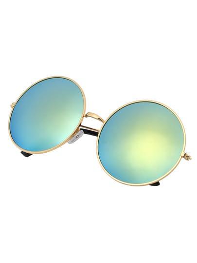 lunettes de soleil vintage rond -doré