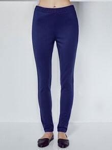 Royal Blue Elastic Waist Leggings