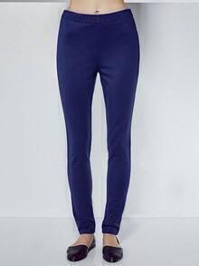 Royal Blue Elastic Waist Leggings