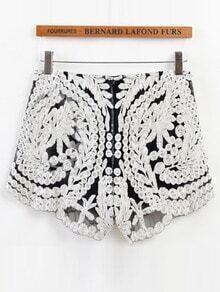 Crochet Elastic Waist Shorts