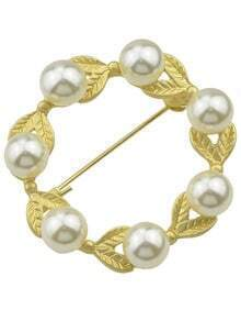Beautiful Pearl Flower Brooch