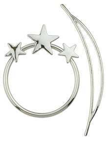 Silver Star Circle Geometric Hairwear