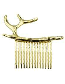 Gold Geometric Antlers Hairwear