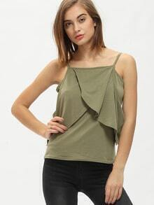 Cold Shoulder Ruffle Cami Top