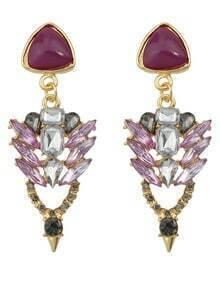 Rhinestone Hanging Stud Earrings