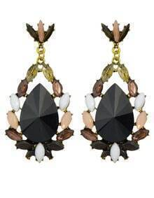 Black Gemstone Women Earrings
