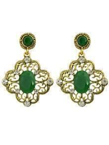 Green Gemstone Women Earrings