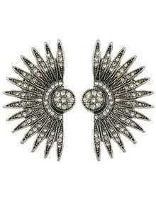 Rhinestone Wing Shape Stud Earrings