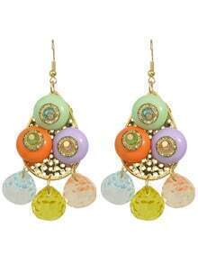 Statement Colorful Bead Earrings