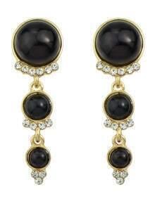 Black Long Hanging Pearl Earrings