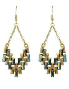 Colorful Rhinestone Drop Dangle Earrings