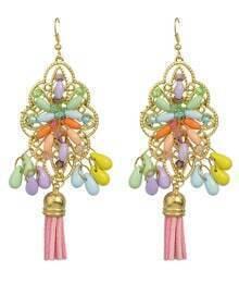 Beautiful Beads and Tassel Earrings