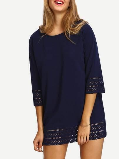 Plain Cutout Tunic Dress