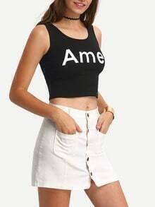Snap Buttoned & Pocket Front White Denim Dress