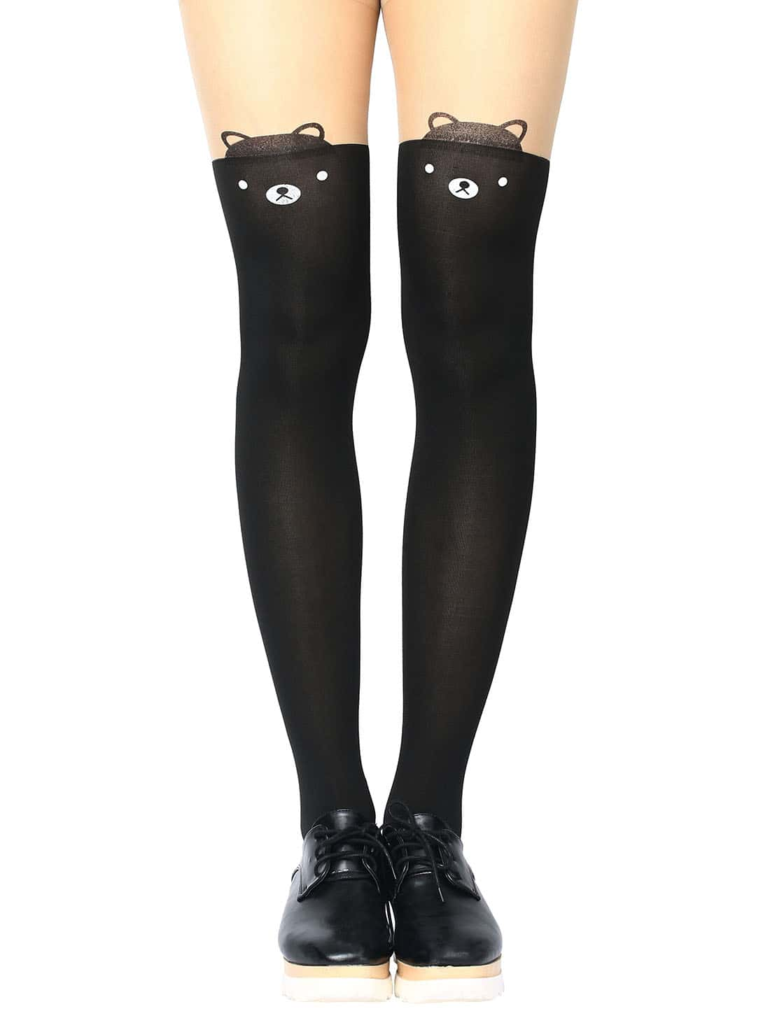 Bear Print Tights