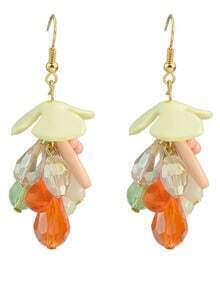 Colorful Beads Drop Earrings