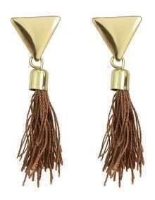 Gold Plated Rope Tassel Earrings
