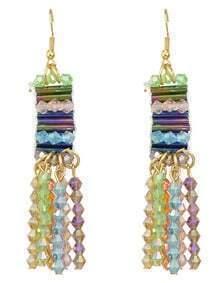 Beautiful Colorful Beads Drop Earrings